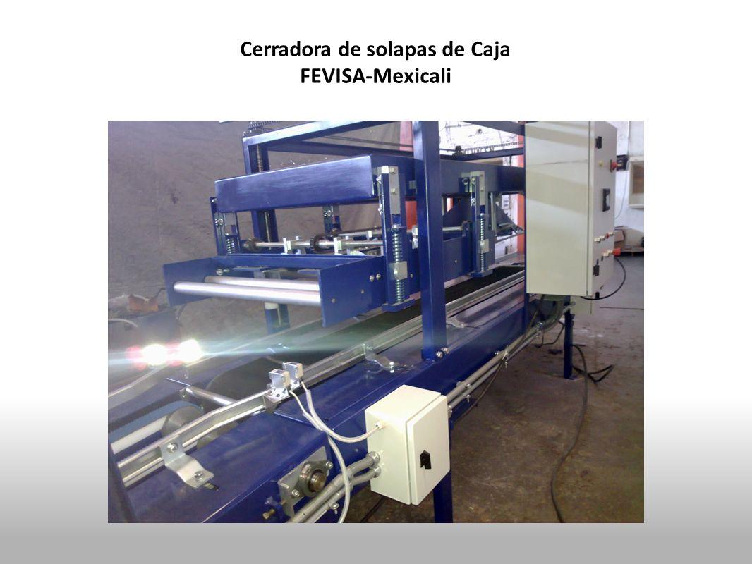 Cerradora de solapas de Caja FEVISA-Mexicali