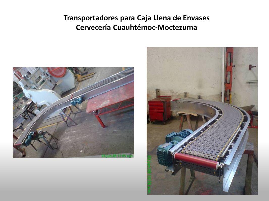 Transportadores para Caja Llena de Envases Cervecería Cuauhtémoc-Moctezuma