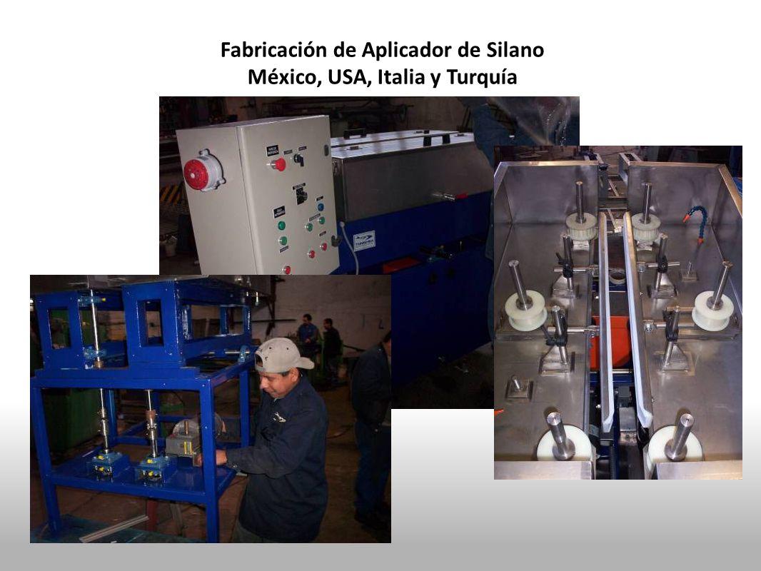 Fabricación de Aplicador de Silano México, USA, Italia y Turquía
