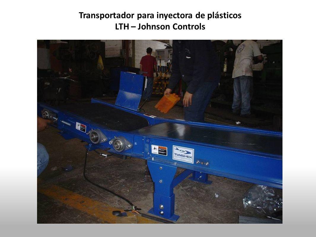 Transportador para inyectora de plásticos LTH – Johnson Controls