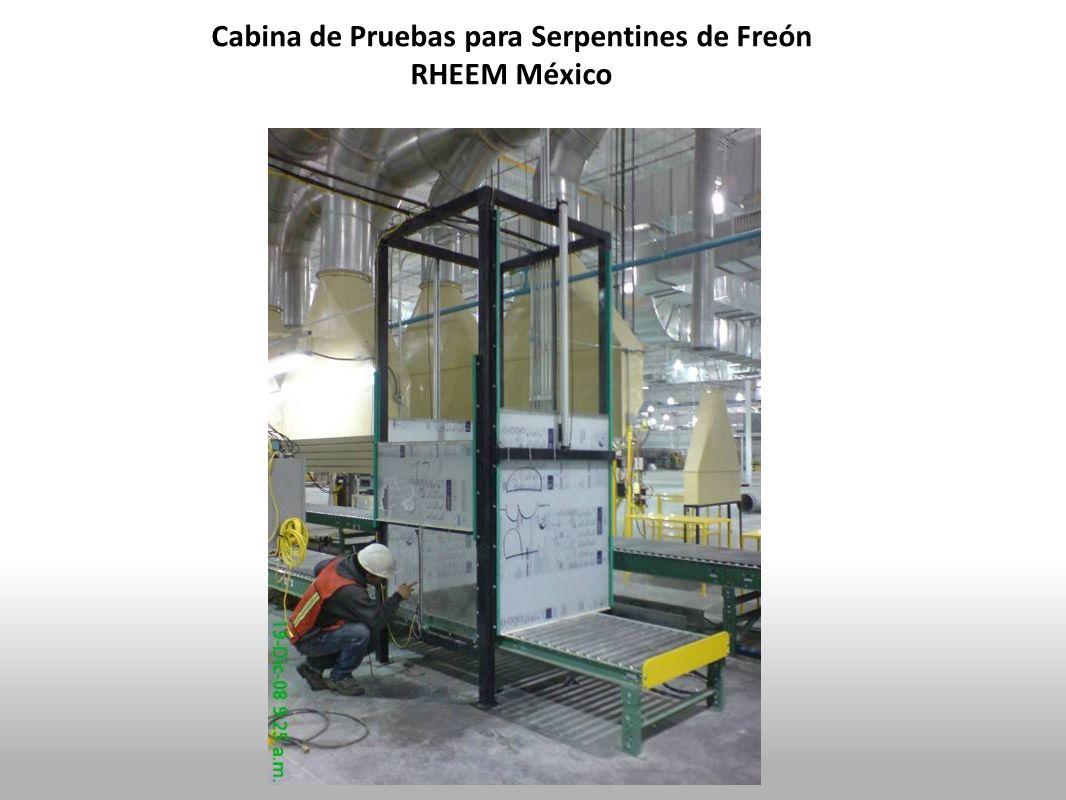 Cabina de Pruebas para Serpentines de Freón RHEEM México