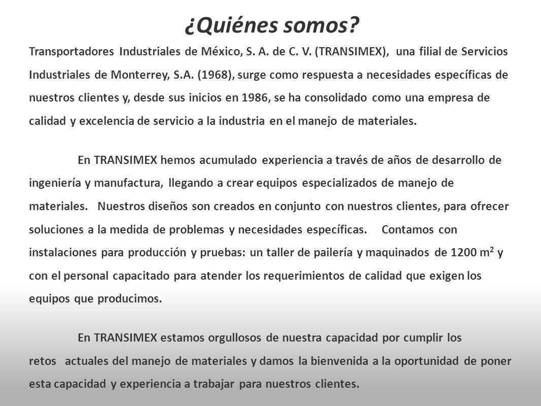 Transportadores Industriales de México, S. A. de C. V. (TRANSIMEX), una filial de Servicios Industriales de Monterrey, S.A. (1968), surge como respues