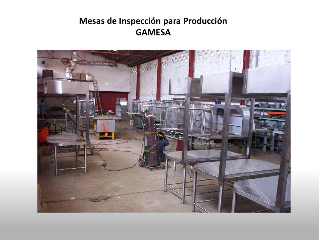 Mesas de Inspección para Producción GAMESA