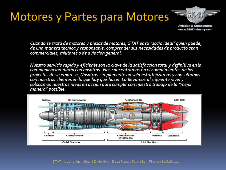 Motores y Partes para Motores STAT Industry, Inc. 3601 N Dixie Hwy - Boca Raton, FL 33484 - Phone 561.826.7045