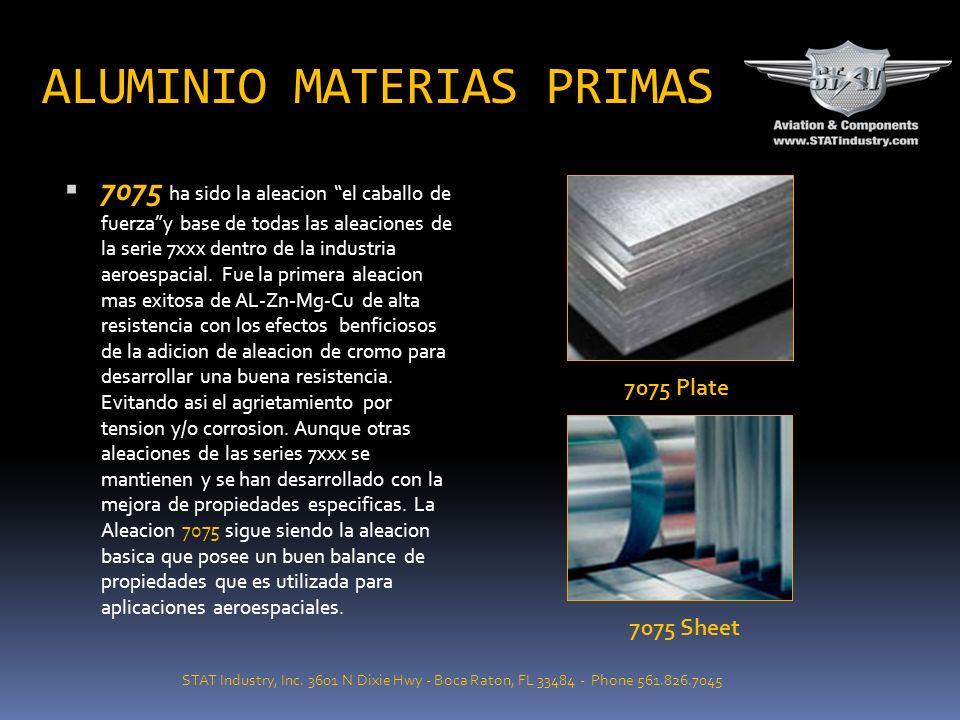 Extrusion DIVISION DE MATERIAS PRIMAS Las placas, barras, laminas: etc. de Aluminio son utilizadas en la fabricacion de aviones, repuestos de motores