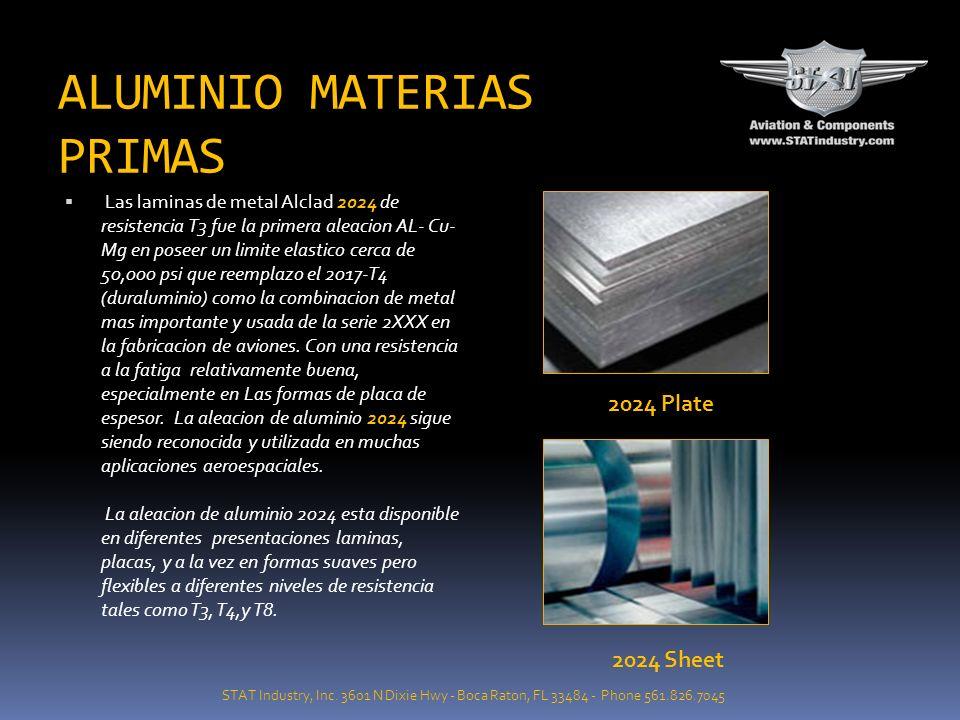ALUMINIO MATERIAS PRIMAS 7075 ha sido la aleacion el caballo de fuerzay base de todas las aleaciones de la serie 7xxx dentro de la industria aeroespac