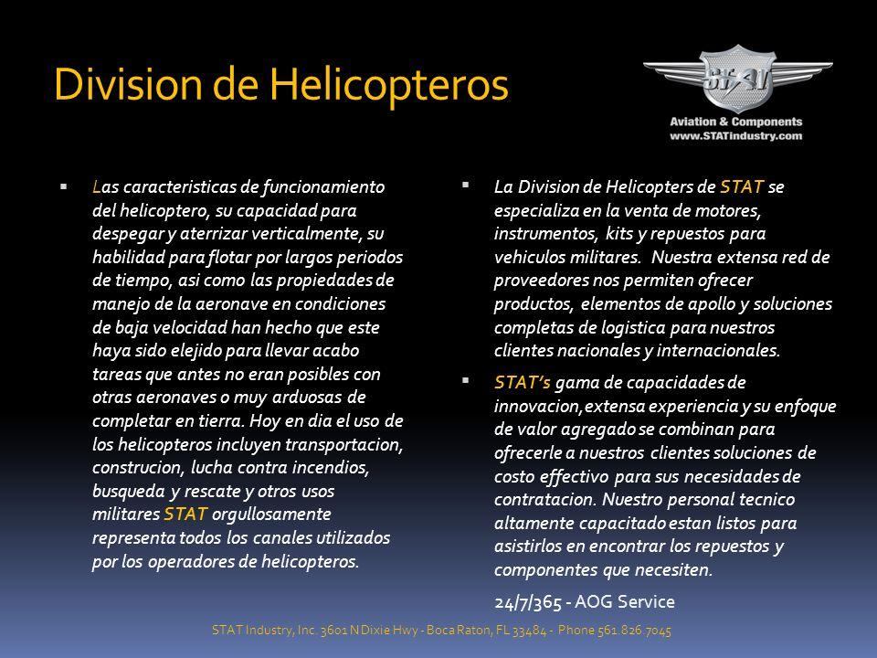AVIACION GENERAL COMERCIAL MILITAR DIVISION DE LLANTAS STAT Industry, Inc.