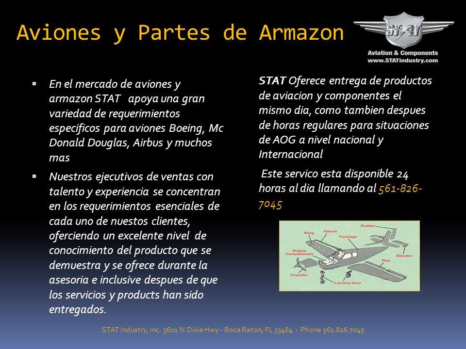 Aviones y Partes de Armazon STAT Industry, Inc. 3601 N Dixie Hwy - Boca Raton, FL 33484 - Phone 561.826.7045