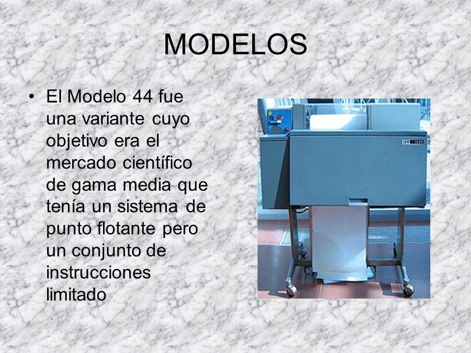 MODELOS El Modelo 67 fue el primer ordenador de IBM que ofrecía DAT, un dispositivo de conversión dinámico de direcciones, que consistía en convertir las direcciones virtuales en reales al ejecutarse un proceso