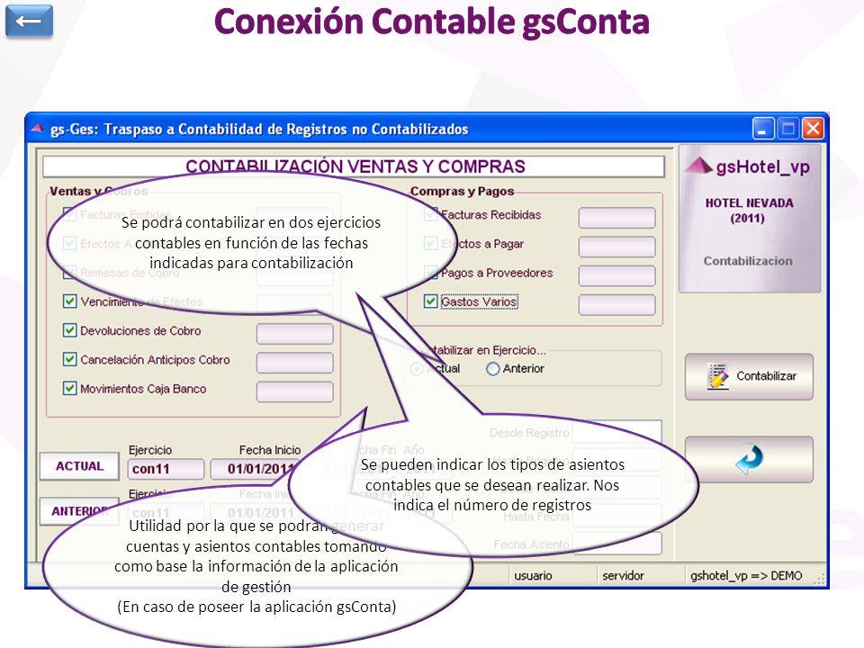 Utilidad por la que se podrán generar cuentas y asientos contables tomando como base la información de la aplicación de gestión (En caso de poseer la