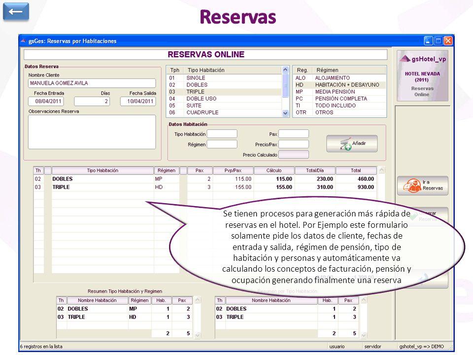 Cabecera Reserva: Se anota Estado de Reserva, referencias, tipo, canal, segmento de mercado,… Cliente, Agencia, central de reservas, empresa del clien