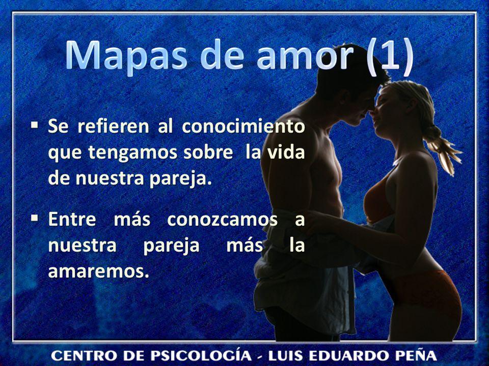 Se refieren al conocimiento que tengamos sobre la vida de nuestra pareja. Se refieren al conocimiento que tengamos sobre la vida de nuestra pareja. En