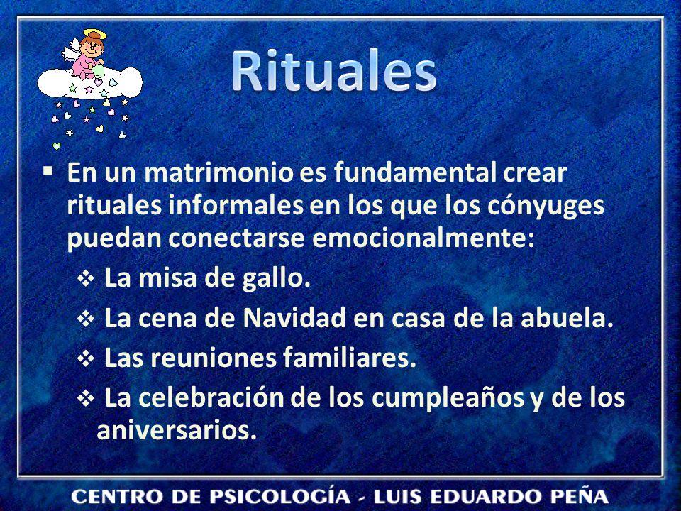 En un matrimonio es fundamental crear rituales informales en los que los cónyuges puedan conectarse emocionalmente: La misa de gallo.