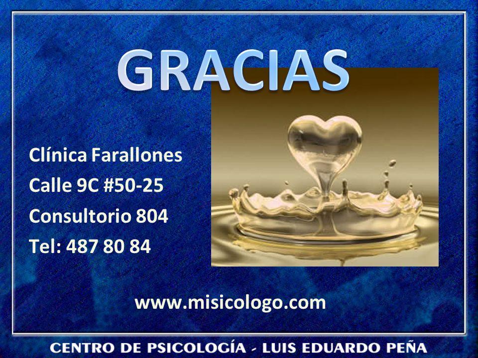 Clínica Farallones Calle 9C #50-25 Consultorio 804 Tel: 487 80 84 www.misicologo.com