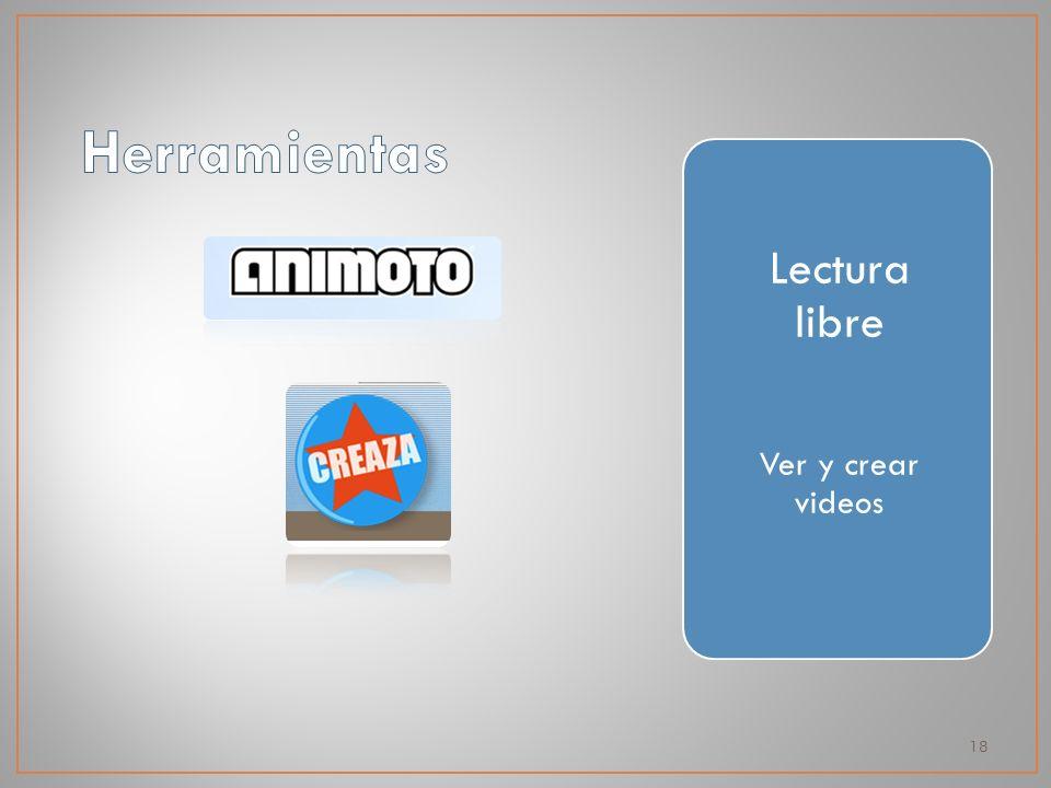 18 Lectura libre Ver y crear videos