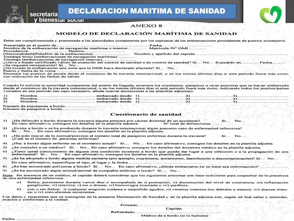 DECLARACION MARITIMA DE SANIDAD