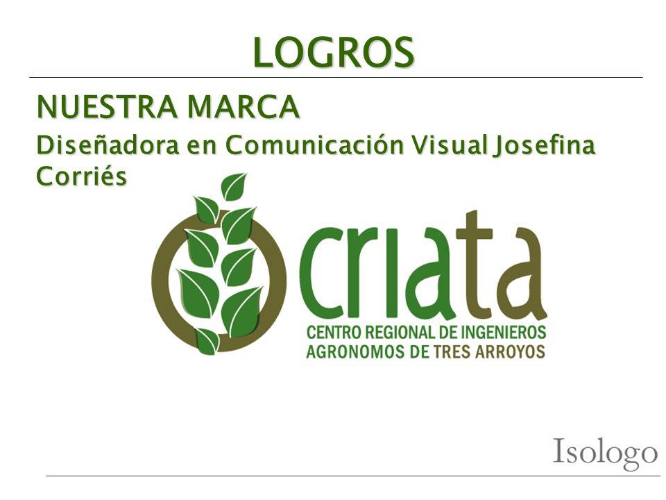 LOGROS NUESTRA MARCA Diseñadora en Comunicación Visual Josefina Corriés