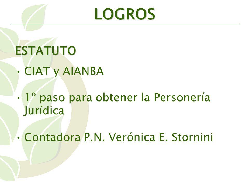 ESTATUTO CIAT y AIANBA 1º paso para obtener la Personería Jurídica Contadora P.N.