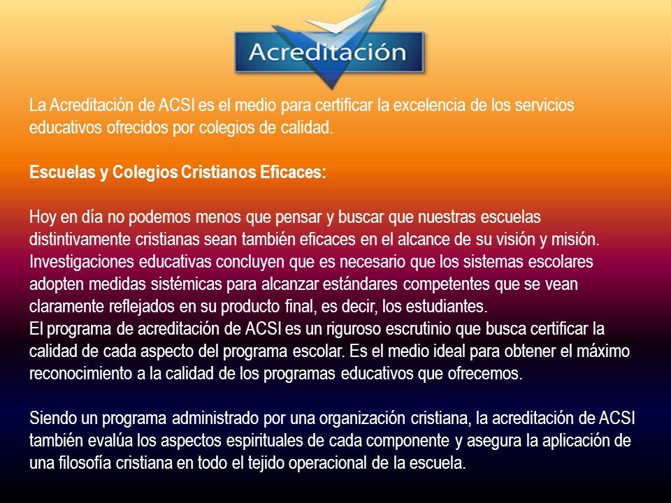 25/11/2010 PROCESO DE ACREDITACION ACSI ESCUELA PARA PADRES