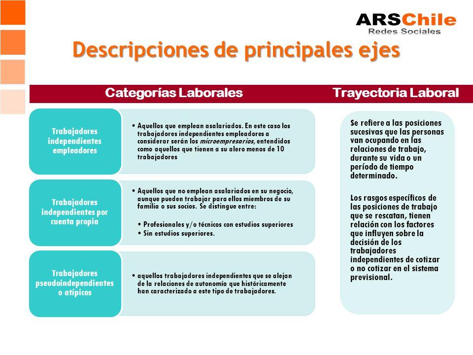 Descripciones de principales ejes Categorías Laborales Aquellos que emplean asalariados.