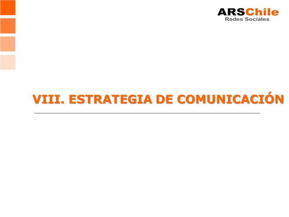 VIII. ESTRATEGIA DE COMUNICACIÓN