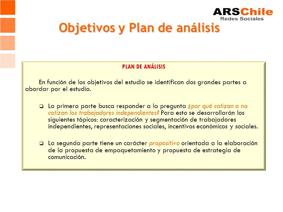 Objetivos y Plan de análisis OBJETIVOS 1.- Desarrollar un estudio cualitativo sobre materias previsionales y de protección social en trabajadores inde