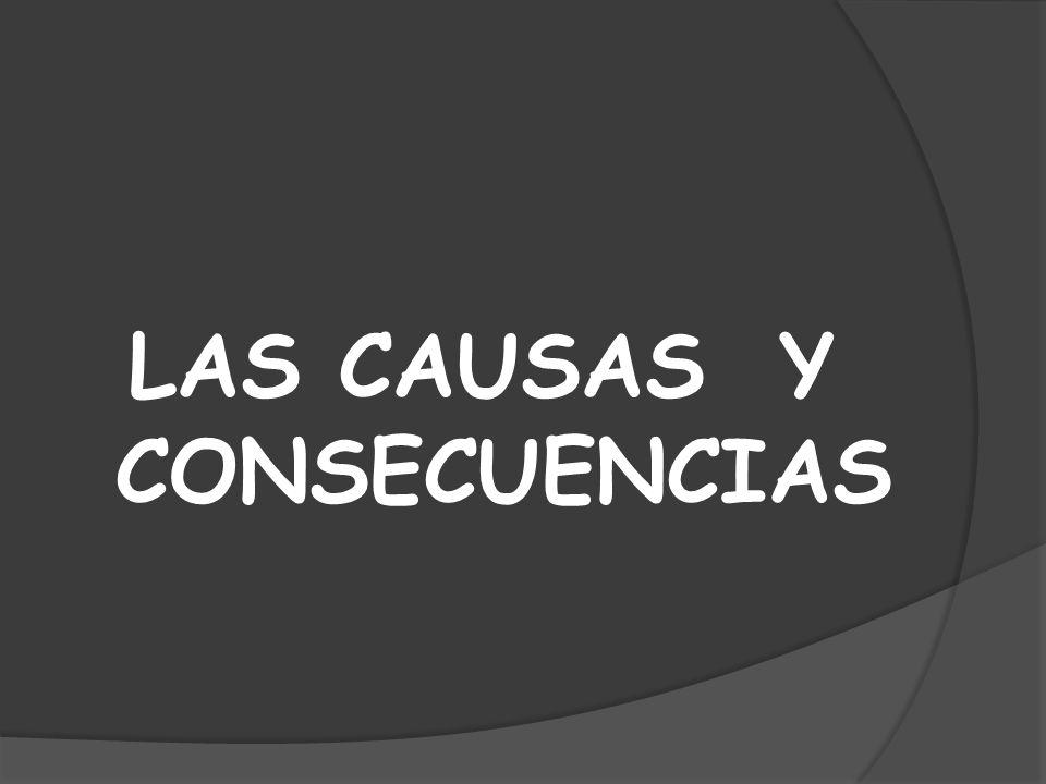 LAS CAUSAS Y CONSECUENCIAS