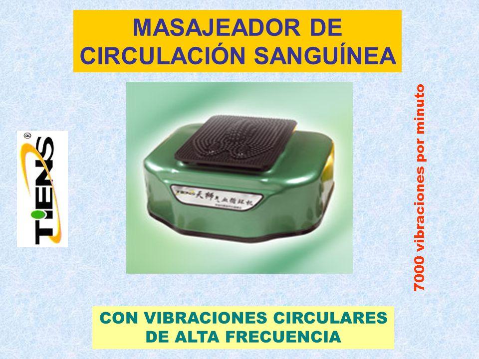 MASAJEADOR DE CIRCULACIÓN SANGUÍNEA CON VIBRACIONES CIRCULARES DE ALTA FRECUENCIA 7000 vibraciones por minuto