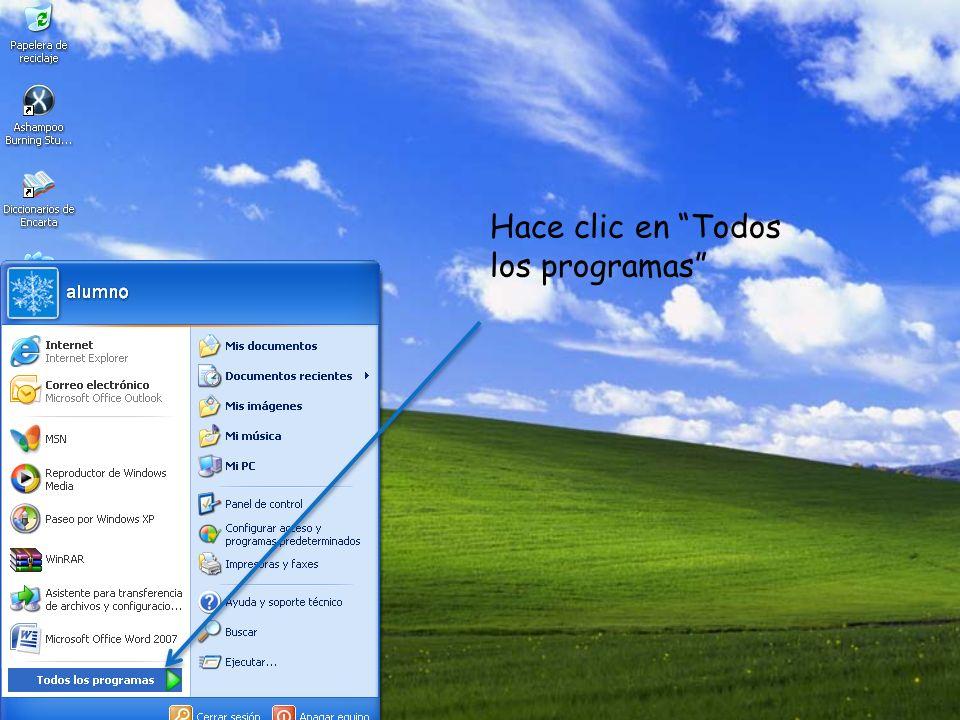 Hace clic en : Microsoft Office