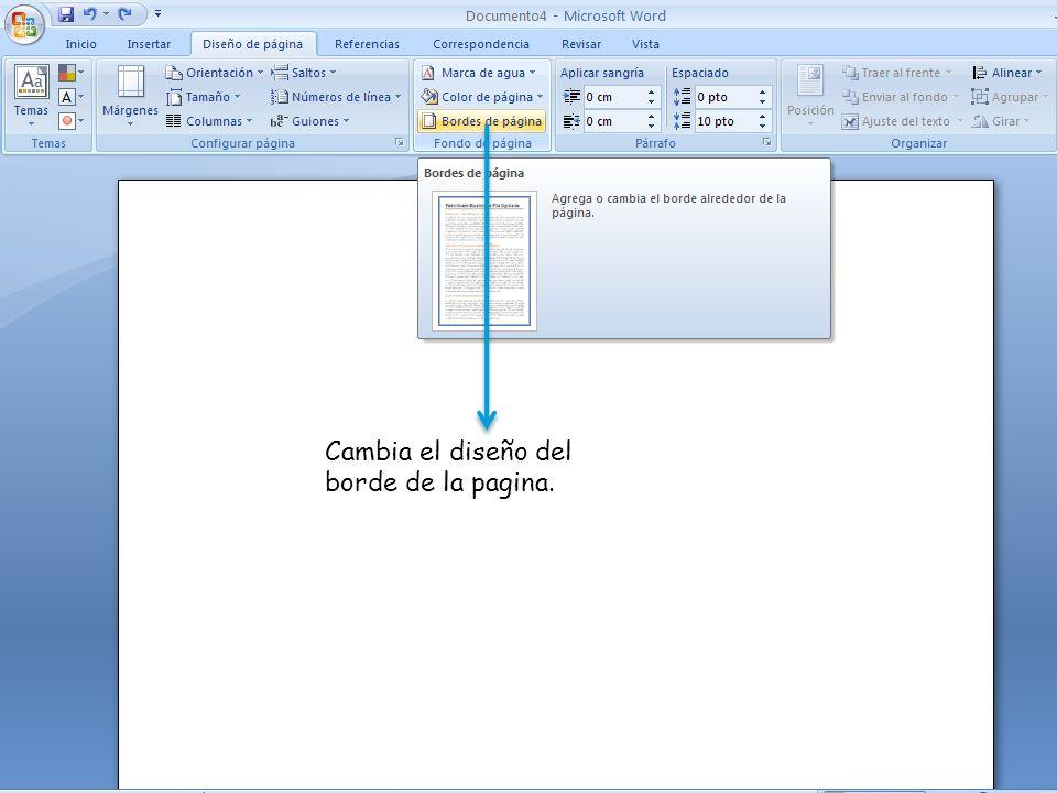 Cambia el diseño del borde de la pagina.