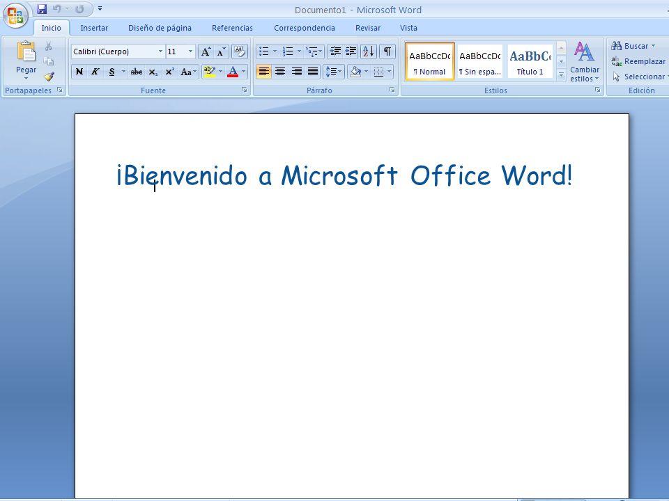 ¡Bienvenido a Microsoft Office Word!