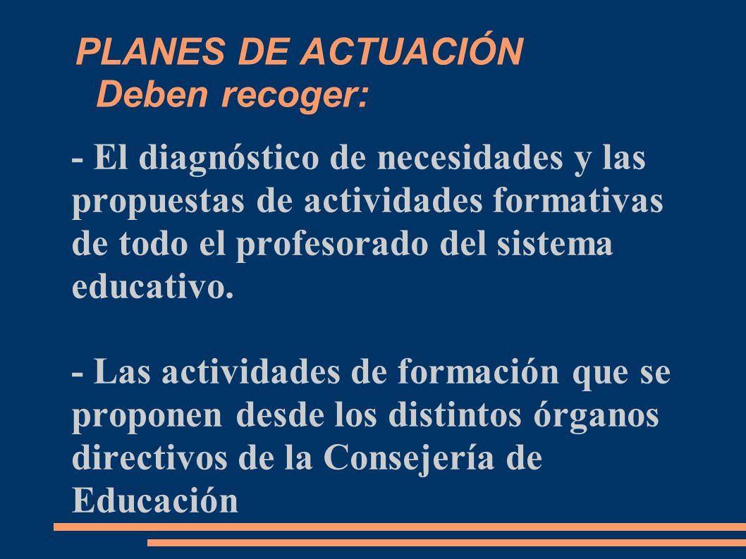Las necesidades formativas de los centros responden a: - Los requerimientos técnicos profesionales de la nueva legislación educativa: competencias educativas,...