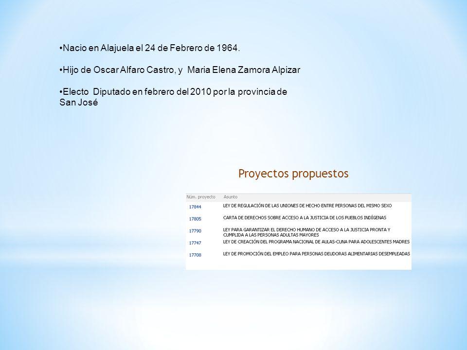 Nacio en Alajuela el 24 de Febrero de 1964.