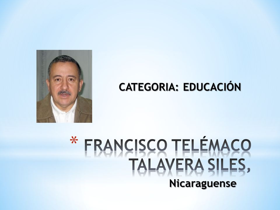 Nicaraguense CATEGORIA: EDUCACIÓN