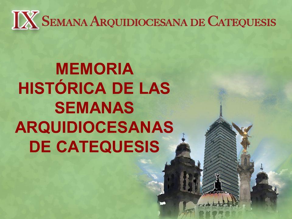 PROCESO MISIONERO ARQUIDIOCESANO CONCILIO VATICANO II (1965) MEDELLIN (1968) PUEBLA 1979 SANTO DOMINGO (1992) SEGUNDO SINODO ARQUIDIOCESANO (1989-1993) EVANGELLI NUNTIANDI (1975) MISION GUADALUPANA (1979) NUEVA EVANGELIZACION (1983) CHRISTIFIDELIS LAICI (1988) REDENTORES MISSIO (1990)