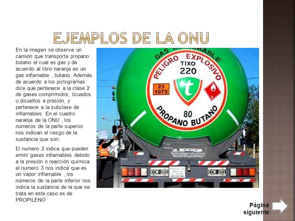 En la imagen se observa un camión que transporta propano butano el cual es gas y de acuerdo al libro naranja es un gas inflamable, butano. Además de a