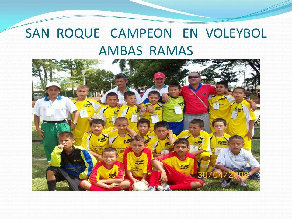 SAN ROQUE CAMPEON EN VOLEYBOL AMBAS RAMAS