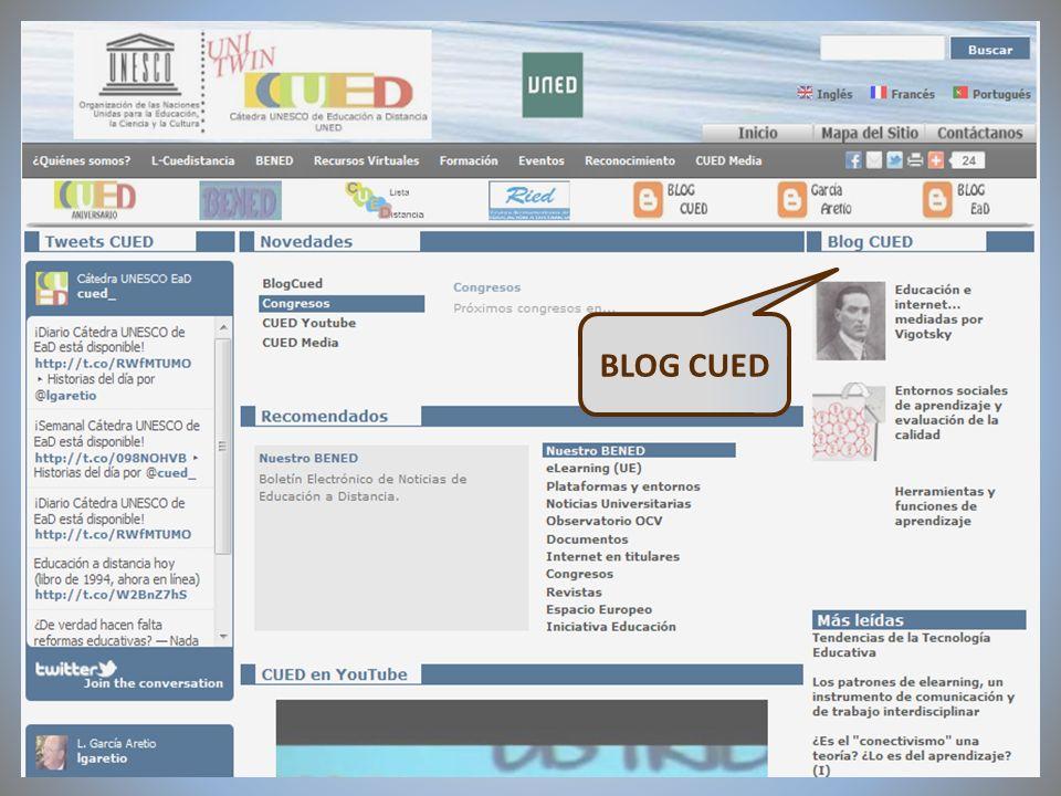 09/02/2012VI Encuentro de Cátedras UNESCO de España BLOG CUED