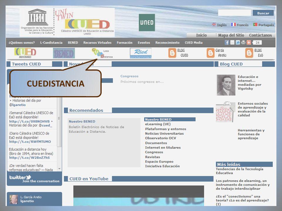 09/02/2012VI Encuentro de Cátedras UNESCO de España CUEDISTANCIA