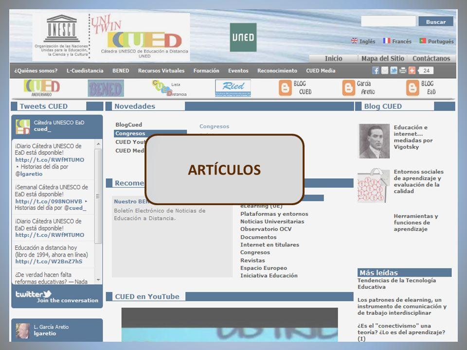 09/02/2012VI Encuentro de Cátedras UNESCO de España ARTÍCULOS