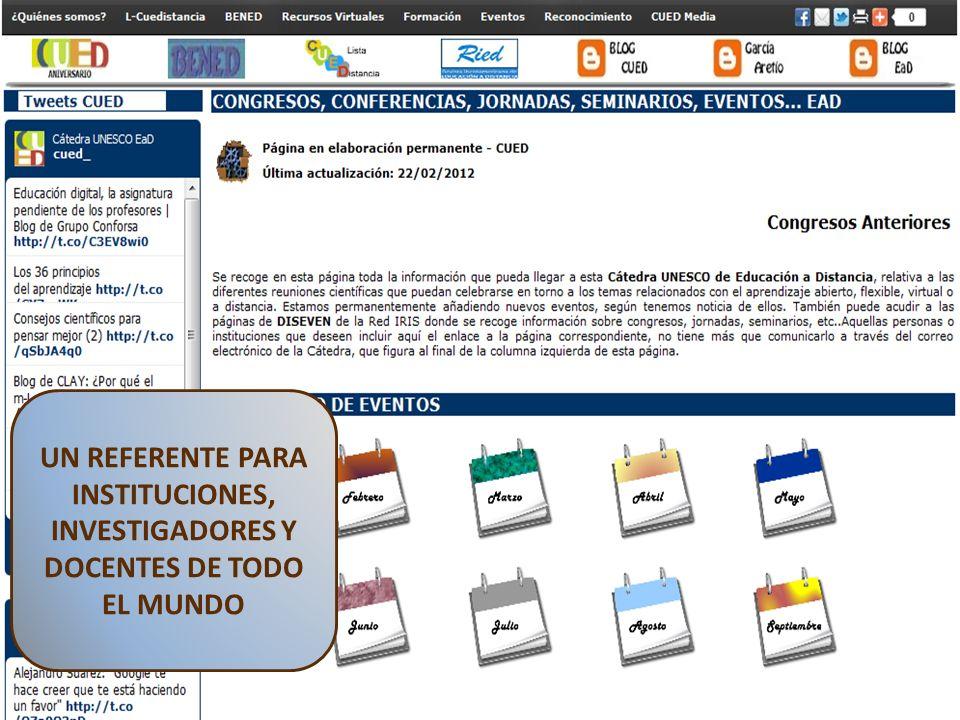UN REFERENTE PARA INSTITUCIONES, INVESTIGADORES Y DOCENTES DE TODO EL MUNDO