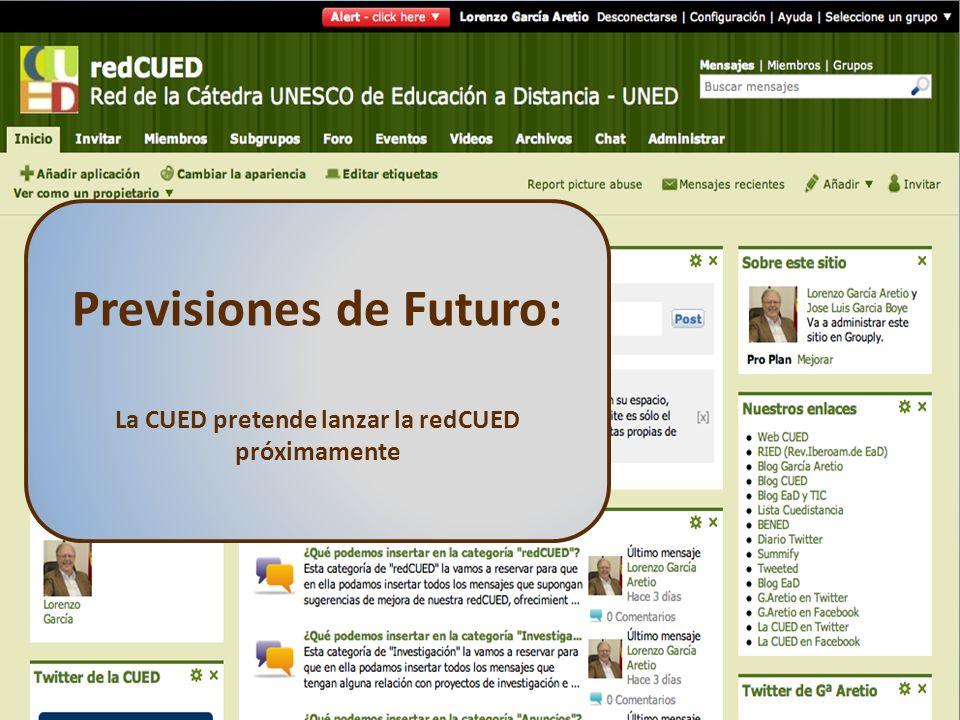 Previsiones de Futuro: La CUED pretende lanzar la redCUED próximamente
