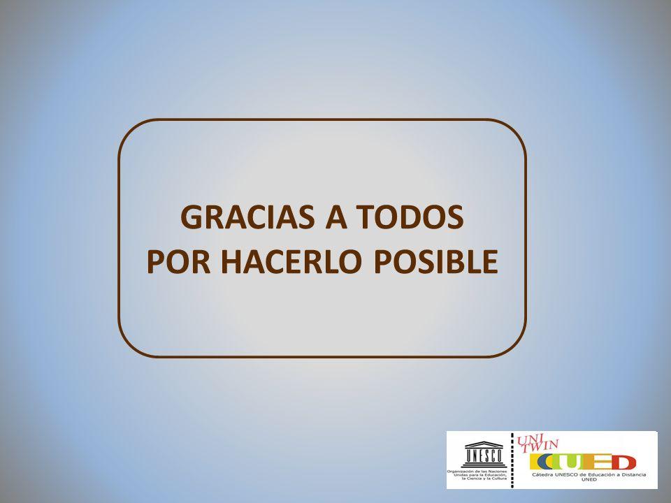 GRACIAS A TODOS POR HACERLO POSIBLE