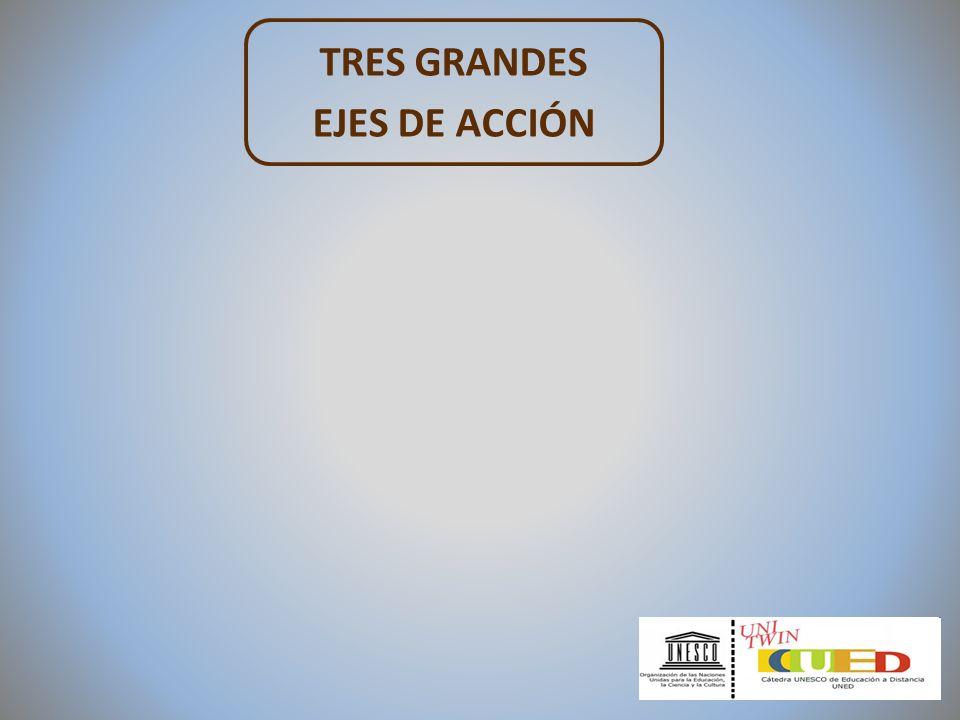 TRES GRANDES EJES DE ACCIÓN