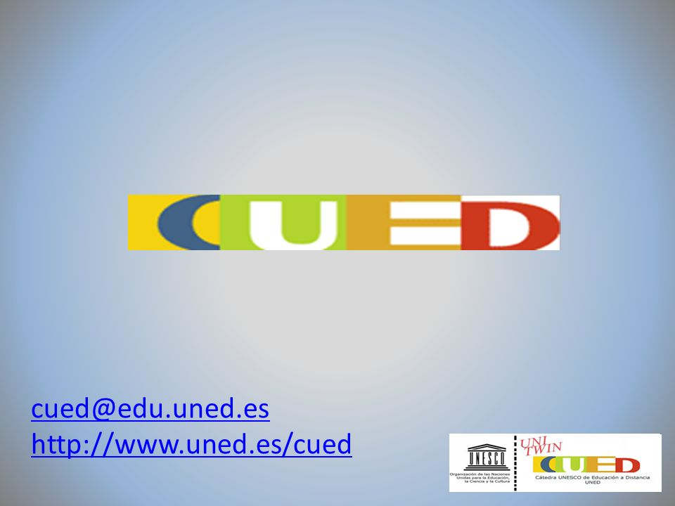 CUEDISTANCIA o CUED-L es la lista de discusión promovida por la Cátedra UNESCO de Educación a Distancia (CUED).