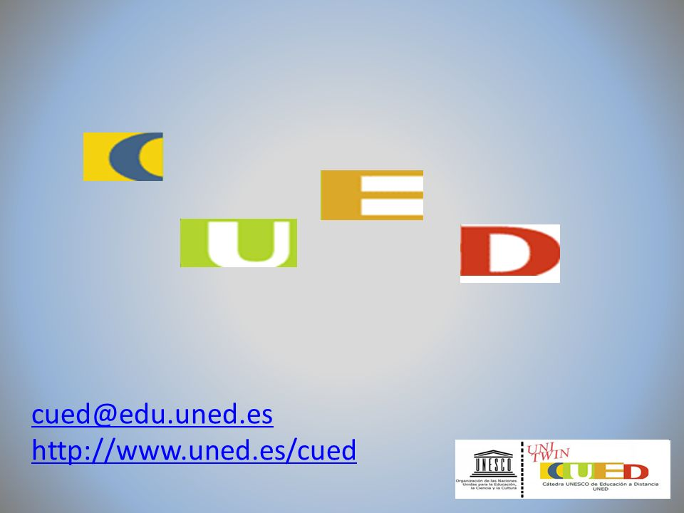 El Proyecto CUED-MEDIA nació en diciembre del año 2010 con el objetivo de diseñar, desarrollar y producir material audiovisual sobre diferentes aspectos de la Educación a Distancia.