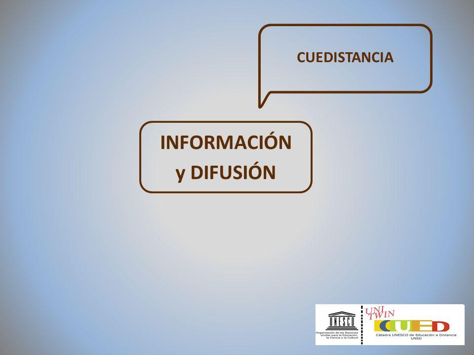 INFORMACIÓN y DIFUSIÓN CUEDISTANCIA