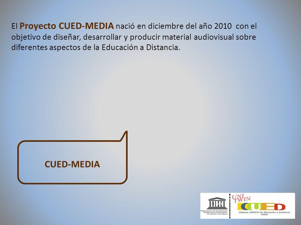 El Proyecto CUED-MEDIA nació en diciembre del año 2010 con el objetivo de diseñar, desarrollar y producir material audiovisual sobre diferentes aspect