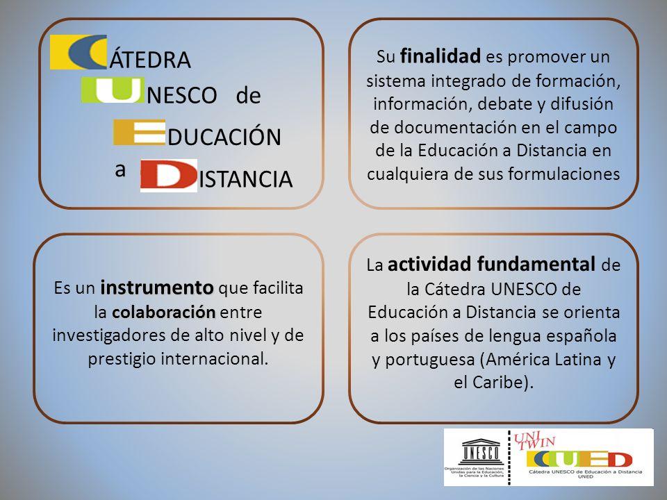 CENTRO IBEROAMERICANO DE RECURSOS PARA LA EDUCACIÓN A DISTANCIA (CIREAD) Y se concretan en la Web de la Cátedra UNESCO de Educación a Distancia http://www.uned.es/catedraunesco-ead/