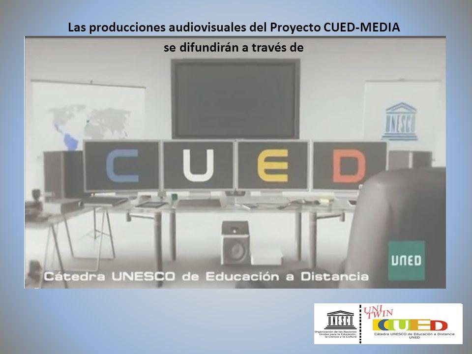 Las producciones audiovisuales del Proyecto CUED-MEDIA se difundirán a través de